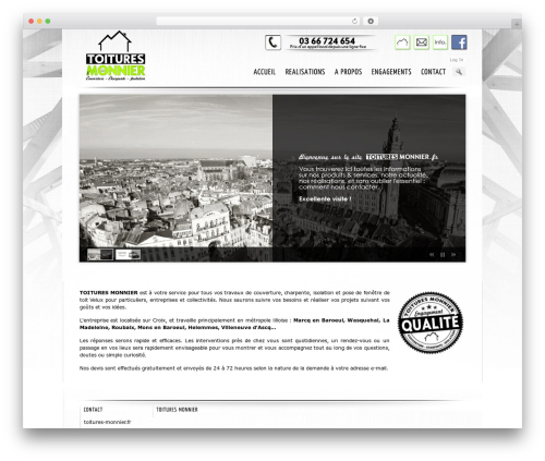 Theme WordPress Prestige Ultimate Wordpress Theme - toitures-monnier.fr