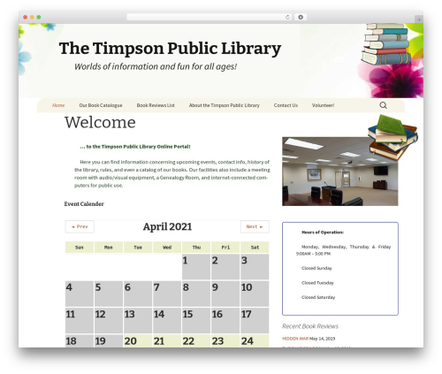 Free WordPress Local Search SEO Contact Page plugin - timpsonlibrary.org
