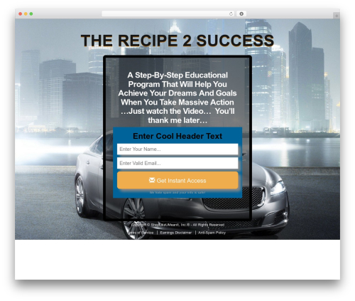 Video Effects Press WordPress blog theme - therecipe2success.com/index.php/the-recipe-2-success