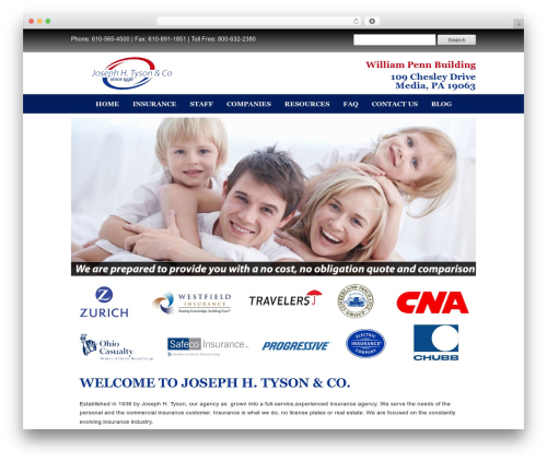 WordPress theme Builder - tysonins.com