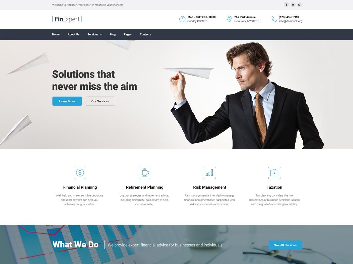 WordPress theme Finexpert