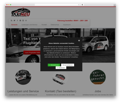 WP template Customizr - taxi-neu.de