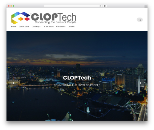 Best WordPress template Businessx - cloptech.com