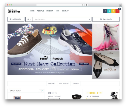 eCommerce WordPress theme - giftkong.com