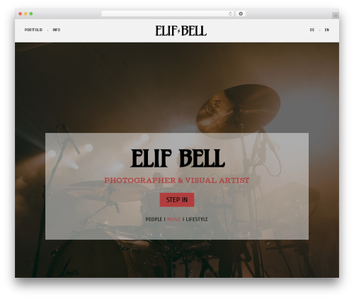 Fliper best WordPress template - elifbell.com