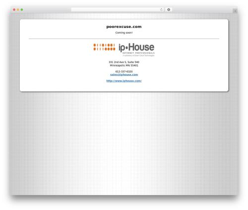 ipHouse Olympus template WordPress - poorexcuse.com
