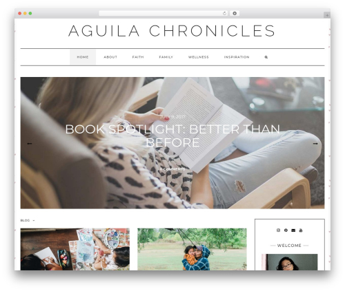 Kale WordPress theme - aguilachronicles.com