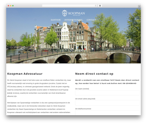 Template WordPress Dejure - koopmanadvocatuur.com