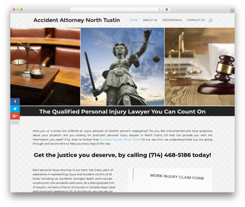 WordPress theme Divi - accidentattorneynorthtustin.com