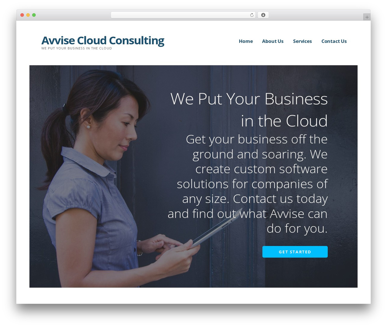 Ascension WordPress template for business - avvise.com