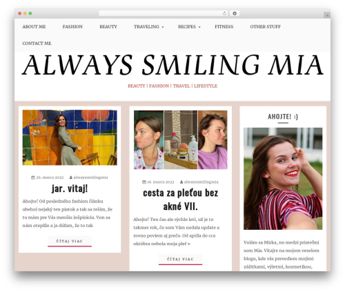 Blog Circle WordPress page template - alwayssmilingmia.com