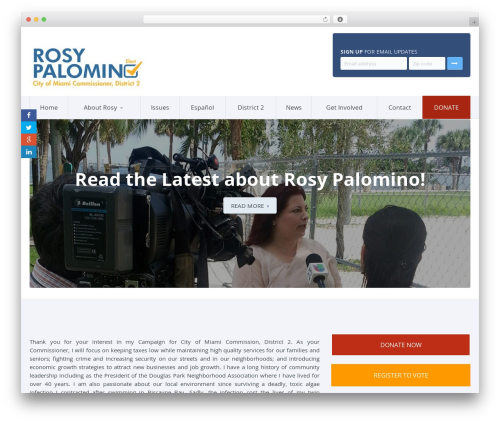 Candidate WordPress page template - runrosy.com