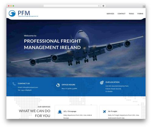 Cargo WordPress theme design - pfmireland.com
