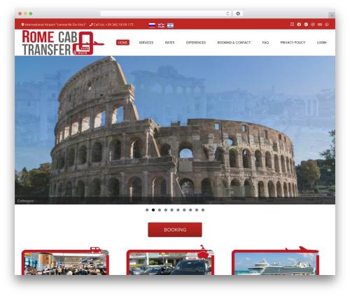 Conica free WordPress theme - romecabtransfer.com