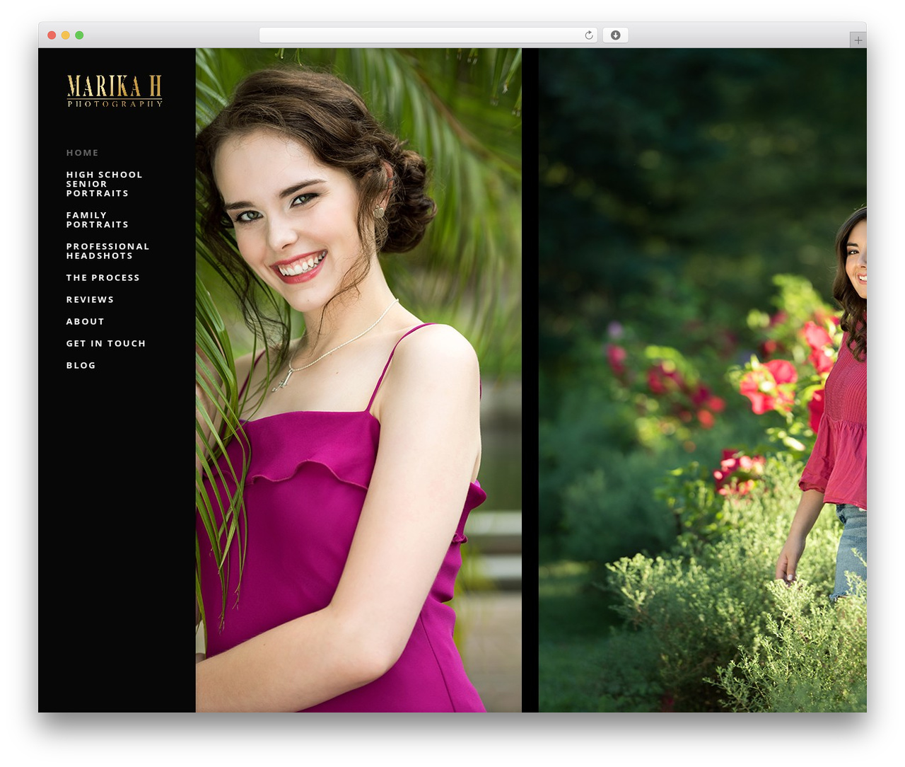 Divi WordPress template for photographers - marikahphotography.com