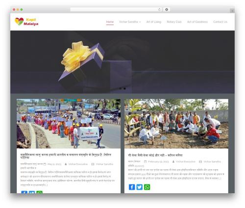 Harest premium WordPress theme - kapilmalaiya.com