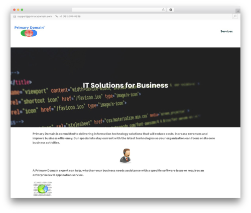 Multiple Business WordPress template for business - primarydomain.com