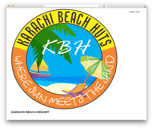 Palm Beach free WP theme - karachibeachresort.com