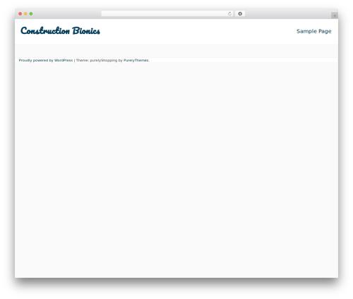 purelyShopping WordPress theme - constructionbionics.com