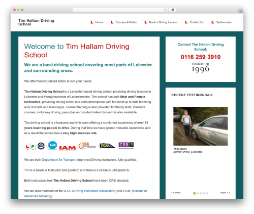 Responsive template WordPress free - leicesterdrivinglessons.com