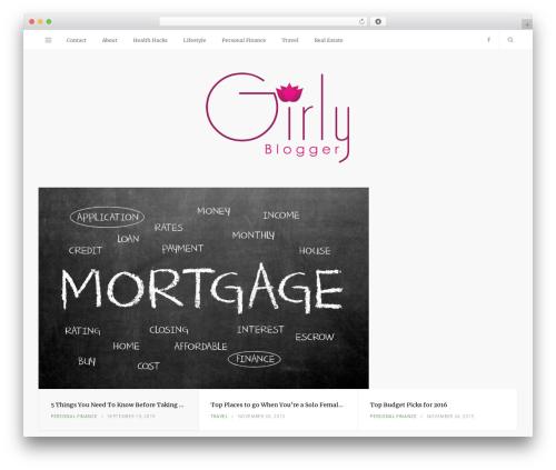 Smart Blog WordPress blog theme - girlyblogger.com