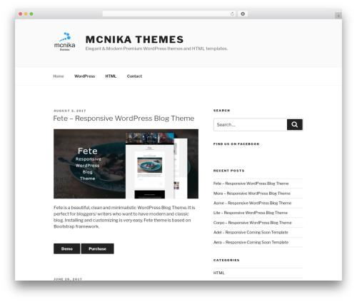 Twenty Seventeen WordPress template free download - mcnika.com
