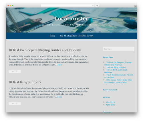 WordPress theme Gateway - WordPress.com - locationster.com