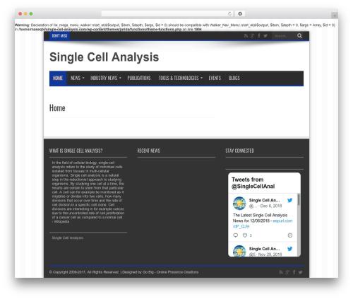 WordPress theme Jarida - single-cell-analysis.com