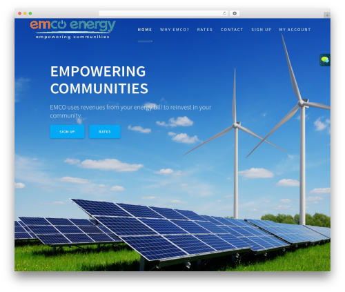 WP template One Page Express - emcoenergy.com