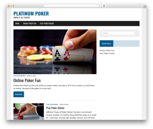 Best WordPress template MH Newsdesk lite - platinum-poker.com