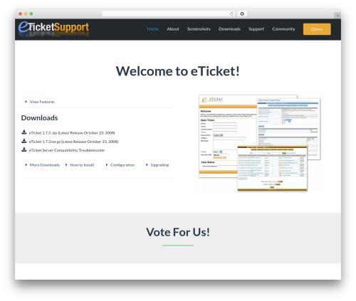 Best WordPress theme Leadinjection - eticketsupport.com