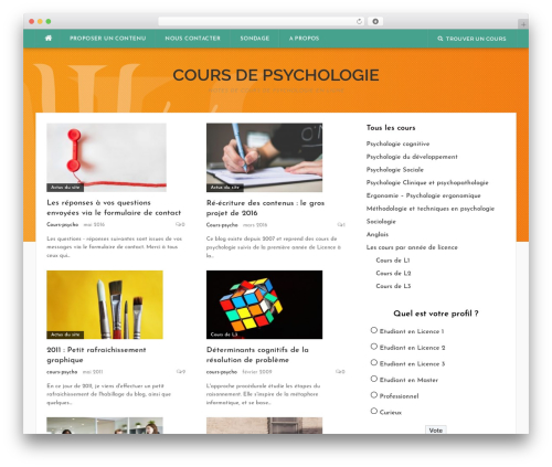 Codilight WordPress theme design - cours-psycho.com