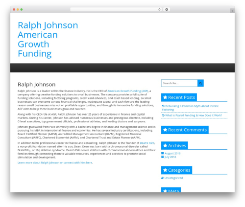 Creative Blog best WordPress theme - ralphjohnsonamericangrowthfunding.com