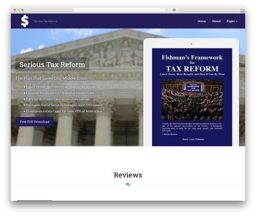 FlatBook theme WordPress - serioustaxreform.com