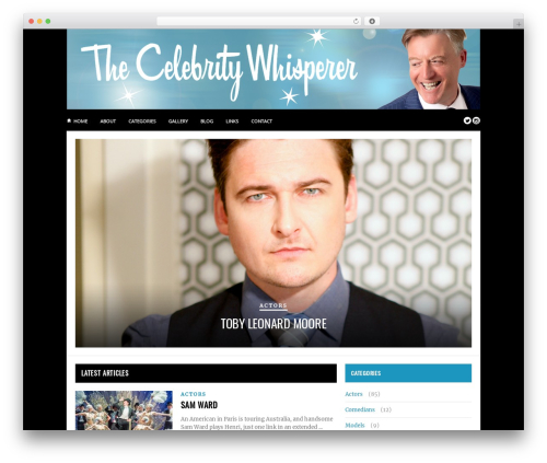 Hickory top WordPress theme - thecelebritywhisperer.com
