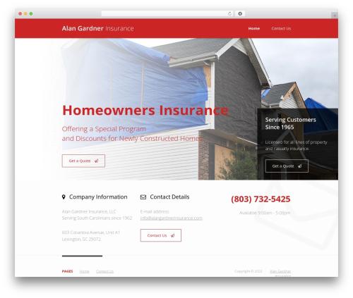 Insurance WordPress Theme WordPress website template - alangardnerinsurance.com