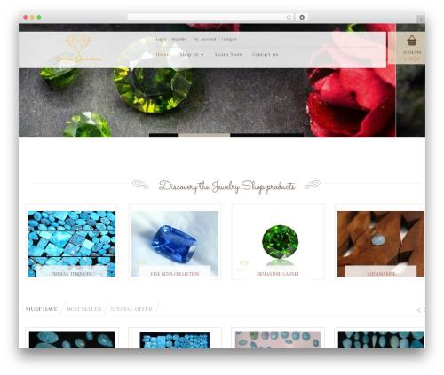 Jewelry Shop WP template - siriusgemstone.com
