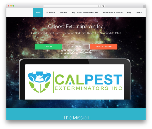 Landlr template WordPress - thextremepestcontrol.com
