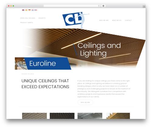 Luna WordPress website template - ceilings-lighting.com