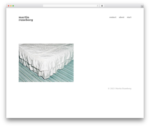 Maker free WP theme - martinruneborg.com