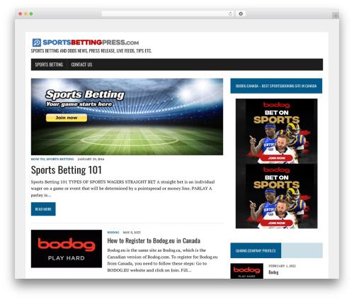 MH Newsdesk lite WordPress magazine theme - sportsbettingpress.com