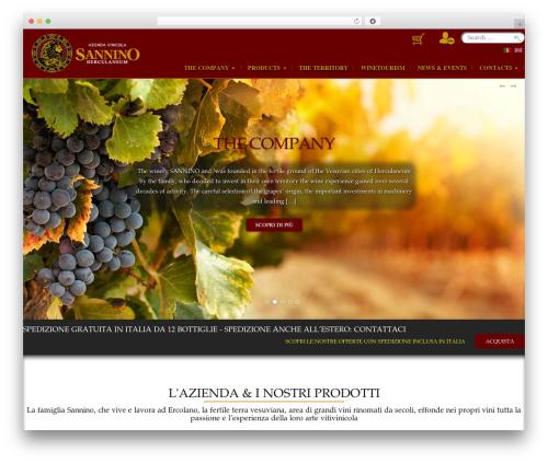 Modality WordPress page template - sanninovini.com