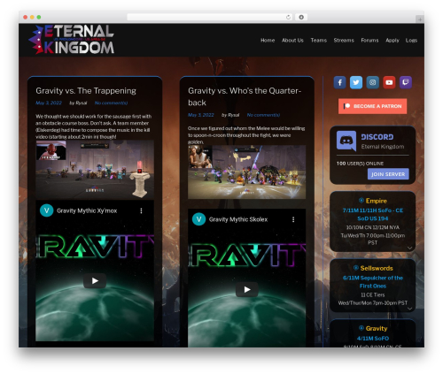 Monstroid2 Lite template WordPress free - eternal-kingdom.com
