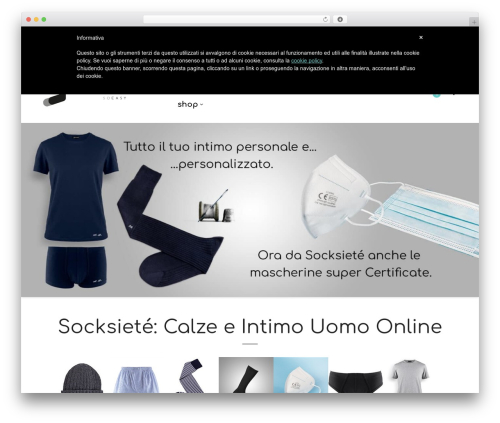 Mr. Tailor WordPress shop theme - socksiete.com