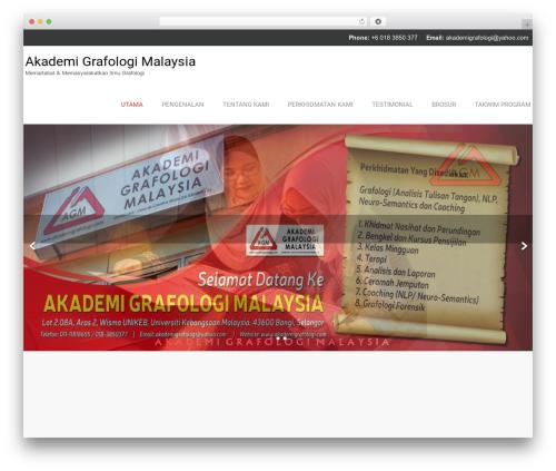 Naturo Lite WordPress theme - akademigrafologi.com