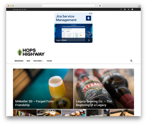 Newspaper best WordPress theme - hopshighway.com