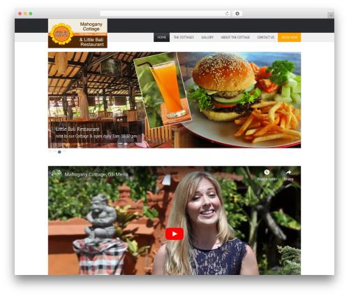 ParadiseHotel WordPress hotel theme - mahoganycottage.com