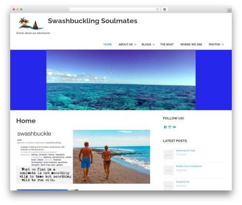 Poseidon WordPress theme - swashbucklingsoulmates.com