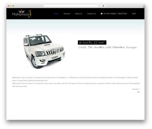 Satellite7 WordPress travel theme - mahamayatravels.com