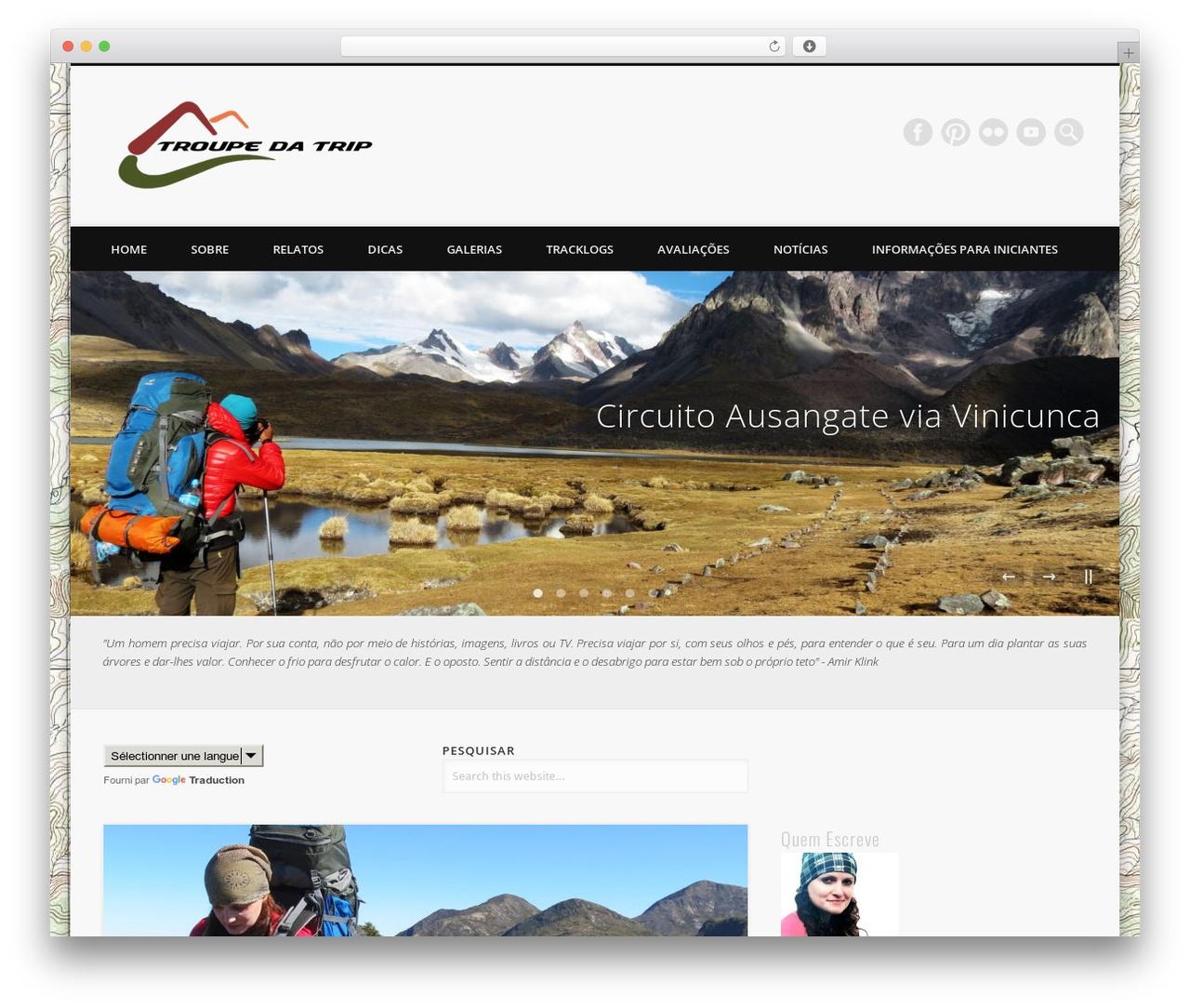 Theme WordPress Pinboard - troupedatrip.com